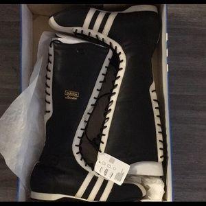 Adidas rare vintage santos hi leather boots
